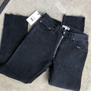 RE/DONE Levi's High Rise Ankle Zip Front Jeans